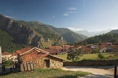 Mountain village. Quiet mountain village, Mogrovejo in Cantabria, Spain Stock Photos