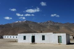 Mountain village. Small settlement in Pamir, Tajikistan, Central Asia Stock Photography