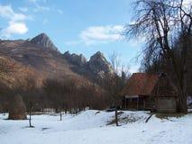 Mountain village. House in mountain village, in Romania, Trascau Mountains Royalty Free Stock Photography