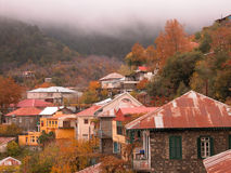 Mountain village Pedoulas Cyprus Stock Photos