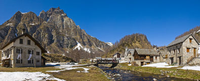 Mountain village. A beautiful little village in a mountain landscape Royalty Free Stock Photography