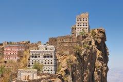 Mountain village. Traditional mountain village in Eastern Haraz Yemen Stock Photo