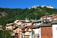 Mountain village Royalty Free Stock Image