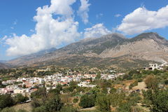 Mountain Village. Village in the mountains of Crete Royalty Free Stock Images