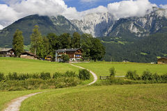 Mountain village. Village in the alps, Germany Stock Photo