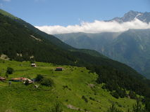 Mountain village. On height of 2000 meters, North Ossetia Royalty Free Stock Photos