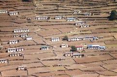 Mountain village. Small village - Phortse - in Solu Khumbu valley in Nepal Royalty Free Stock Image