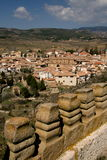 Mountain village. Viewing a mountain village from the castle (Spain Royalty Free Stock Photos