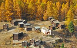 Mountain village above zermatt Stock Image