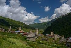 Mountain village Adishi in Georgia Royalty Free Stock Photography