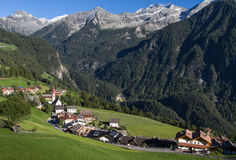 Mountain village of Ahornach in South Tyrol Stock Photography