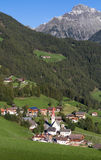 Mountain village of Ahornach in South Tyrol Royalty Free Stock Photo