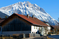 Mountain village in the Alps Stock Photography