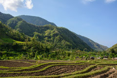 Mountain village, Amed, Bali Indonesia Royalty Free Stock Photos