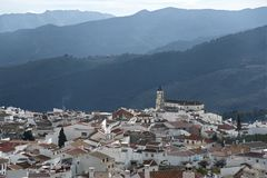 Mountain village at andalusia Stock Photos