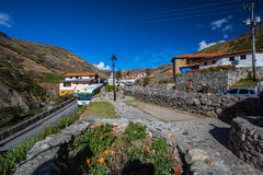 Mountain village in the Andes. Merida. Royalty Free Stock Images