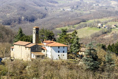 Mountain village. In appennini italy Royalty Free Stock Photography