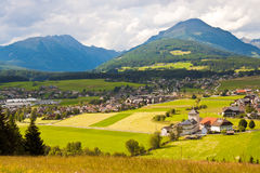Mountain village in Austria Royalty Free Stock Photos