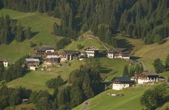 Mountain village in austrian alps Royalty Free Stock Photo