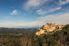 The mountain village of Belgodere in Balagne region of Corsica Stock Photo