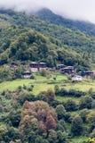 Mountain Village in Black Sea. Mountain village view from Black Sea mountains Royalty Free Stock Photos