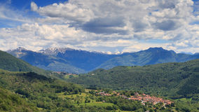 Mountain Village of Breno Royalty Free Stock Photography