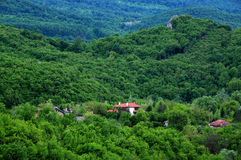 Mountain Village in Bulgaria in the Spring Stock Image