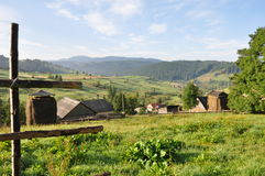 Mountain village in Carpathians Royalty Free Stock Photography