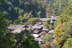 Mountain village center Royalty Free Stock Photo