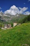 Mountain village of Cheneil, Aosta Valley, Italy Stock Photo