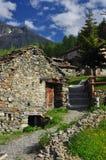 Mountain village of Cheneil, Aosta Valley, Italy royalty free stock photo