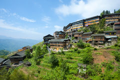Mountain village in China Royalty Free Stock Photos