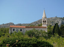 Mountain village church. Old mountain village church in Croatia Royalty Free Stock Images