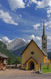 Mountain village church Stock Photos