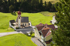 Mountain village church in Tirol, Austria Royalty Free Stock Photography