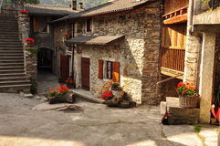 Mountain village of Colletto, Valle Grana, Cuneo Stock Photos