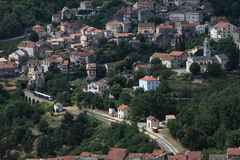 Mountain village in Corsica royalty free stock images