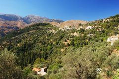 Mountain village, Crete Royalty Free Stock Image