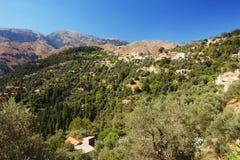 Mountain village, Crete. Mountain village on Crete, Greece Royalty Free Stock Image