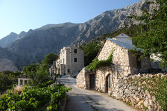 Mountain village in Croatia Royalty Free Stock Images