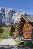 Mountain village Eng. Idyllic mountain lodge in the Eng in Tyrol royalty free stock photography