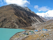 Mountain village at the Everest region Royalty Free Stock Photos