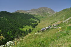 Mountain village of Ferrere Argentera, Valle Stura, Cuneo Stock Photo