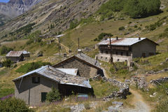 Mountain village in the French alps Royalty Free Stock Photo