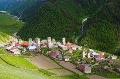 Mountain village in Georgia Royalty Free Stock Photos