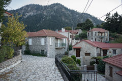 Mountain village in Greece Stock Photo