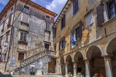 Mountain village Groznjan, Istria, Croatia. Artist village and mountain village Groznjan, Istria, Croatia, Europe royalty free stock photos