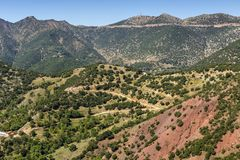 Mountain village from a height Achaea, Greece, Peloponnese Stock Image