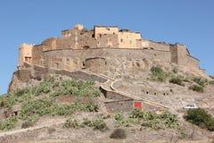 Mountain Village. A hilltop mountain village in the Atlas Mountains near Tafraoute, Morocco Royalty Free Stock Images