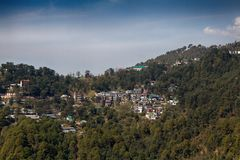 Mountain village in the Himalayas royalty free stock image